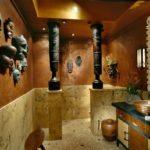 Дизайн туалета в африканском стиле