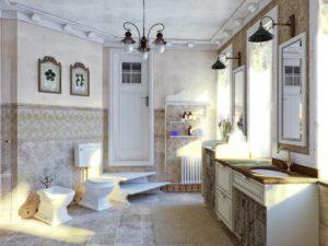 Дизайн интерьера ванной комнаты в прованском стиле
