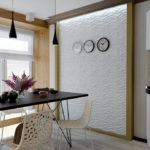 3д панели в интерьере кухни фото