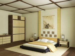 Отделка интерьера в японском стиле - потолок
