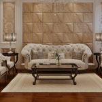 Гостиная в классическом стиле с 3д панелями