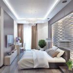 Гипсовые 3д панели в интерьере спальни фото