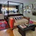 Стиль эклектика в интерьере спальной комнаты фото