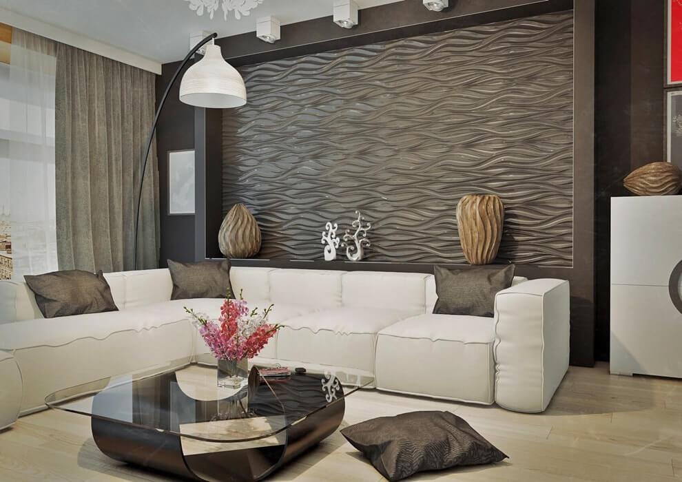 Дизайн гостинной с панелями фото