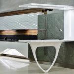 Дизайн стильной кухни с применением 3д панелей