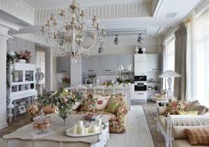 Интерьер гостиной в стиле винтаж