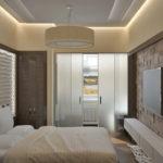 Гипсовые 3д панели в интерьере спальной комнаты фото