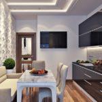 Дизайн стильной кухни с применением рельефных панелей
