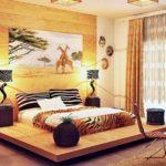 Дизайн интерьера спальни в африканском стиле