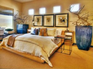 Спальная комната в африканском стиле