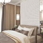 Рельефные панели в интерьере спальной