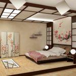 Дизайн спальни в японском стиле фото