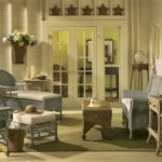 Ретро стиль в интерьере - плетеная мебель