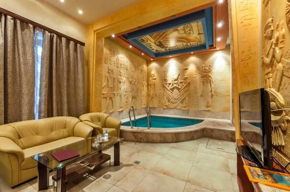 Цветовое оформление интерьера в египетском стиле