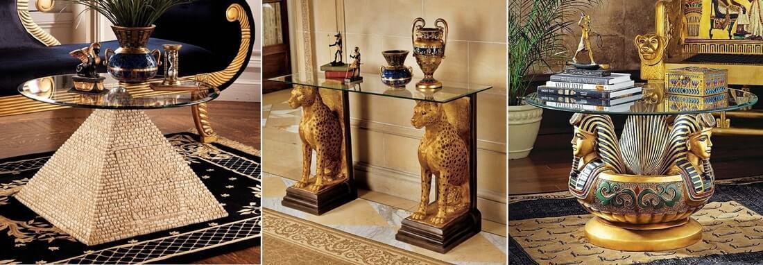 Египетский стиль в интерьере - мебель