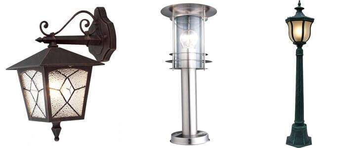 Выбор уличного освещения для дачи - декоративные светильники