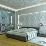 3д панели в интерьере спальной комнаты