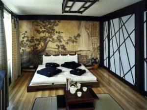 Дизайн спальной в японском стиле