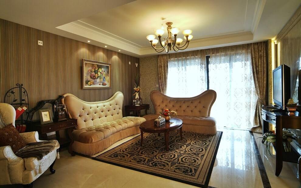 Ретро стиль в интерьере современной гостиной - мебель