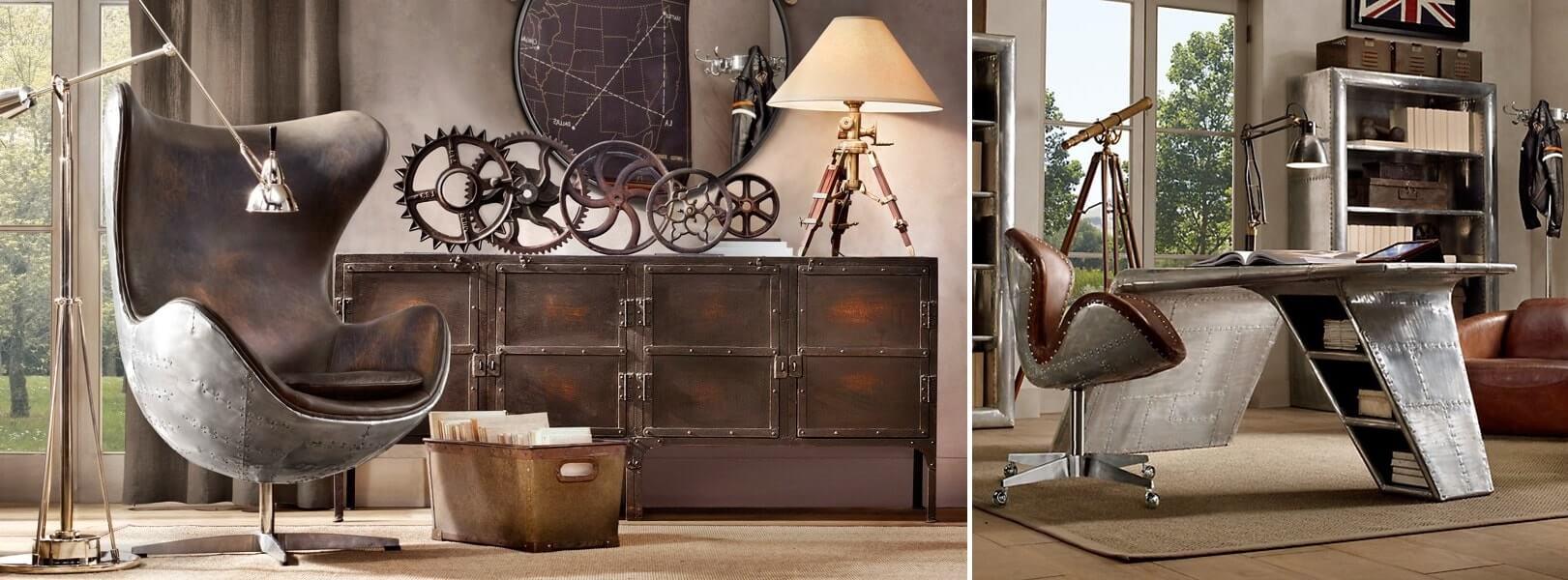 Стиль стимпанк в интерьере - мебель фото
