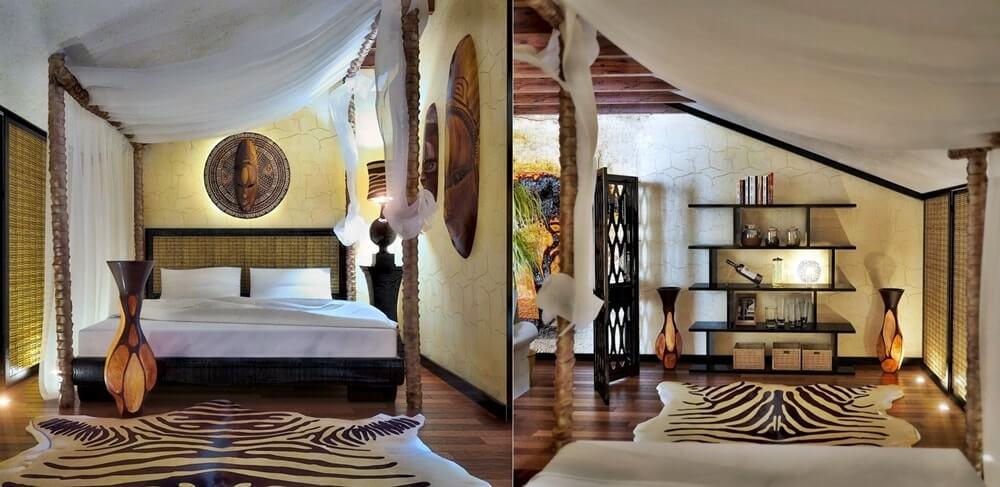 Отделка стен в африканском стиле