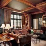 Английский стиль в интерьере гостиной