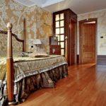 Интерьер спальной комнаты в английском стиле фото