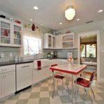 Стиль ретро в интерьере кухни фото