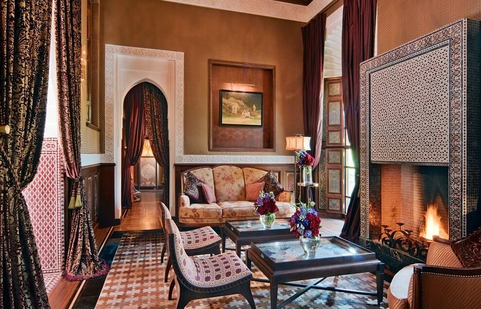 Марокканский стиль в интерьере - текстиль
