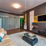 3д панели в интерьере современной гостиной