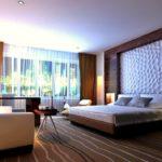 Оформление спальной комнаты 3д панелями