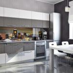 Дизайн кухни с 3д панелями фото