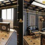 Египетский стиль в интерьере рабочего кабинета
