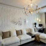3д панели в интерьере современной гостиной фото