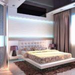 Оформление спальной комнаты 3д панелями фото