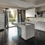 Дизайн кухни с применением 3д панелей