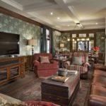 Английский стиль в интерьере гостиной комнаты фото