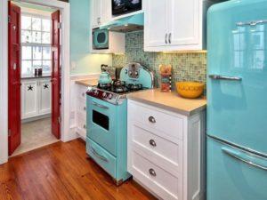 Дизайн интерьера кухни в стиле ретро фото