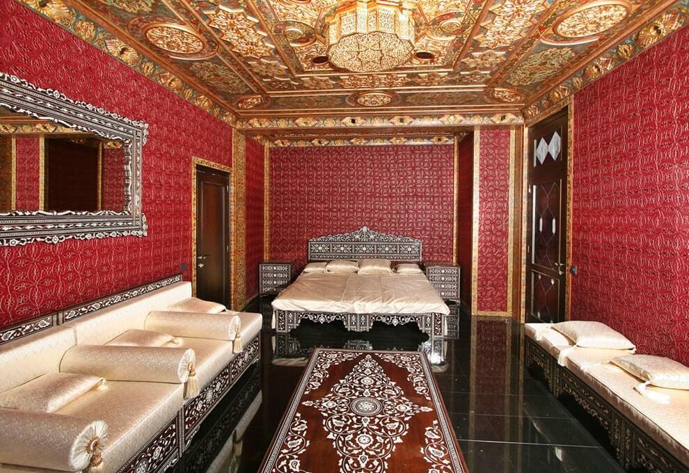 Арабский стиль в интерьере спальной комнаты