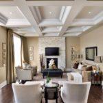 Кессонные потолки в интерьере 8