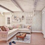 Прованский стиль в интерьере гостиной