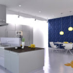 Дизайн кухни с применением 3д панелей фото