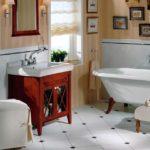 Ретро стиль в интерьере ванной комнаты