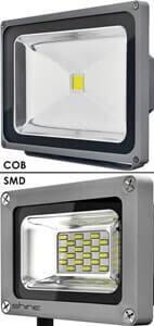 Выбор уличного освещения для дачи - прожекторы - cob-smd