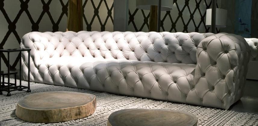 Обивка дивана по технике Каретной стяжки фото