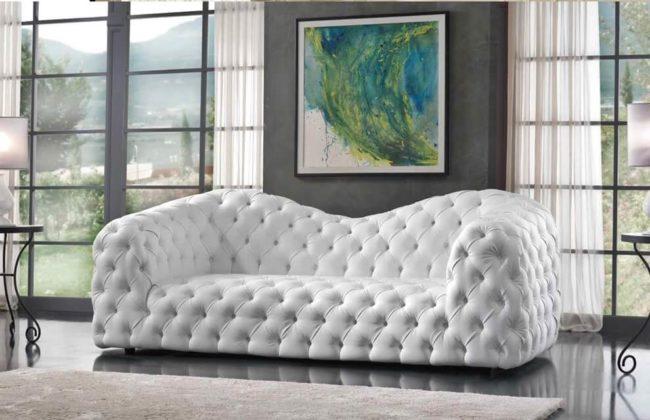 Обивка дивана по технике Капитоне фото