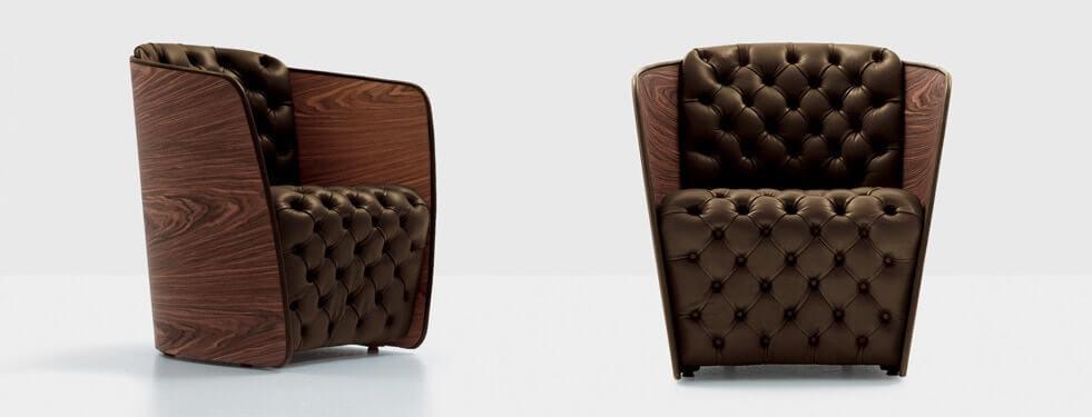 Стильное кресло в каретной стяжке