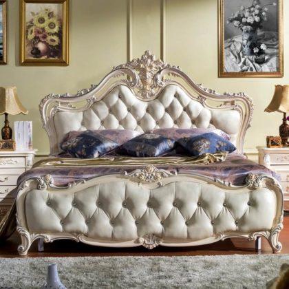 Роскошная кровать с мягкиеми вставками Капитоне