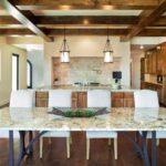 Декоративные балки из мдф в интерьере кухни