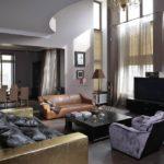 Интерьер гостиной в стиле фьюжн фото